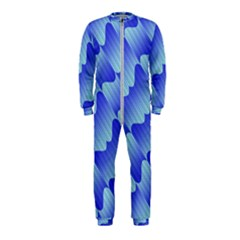 Gradient Blue Pinstripes Lines Onepiece Jumpsuit (kids)