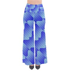 Gradient Blue Pinstripes Lines Pants