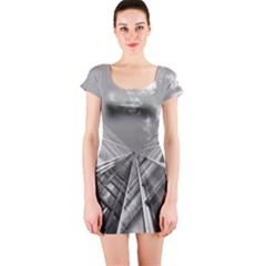 Architecture Skyscraper Short Sleeve Bodycon Dress