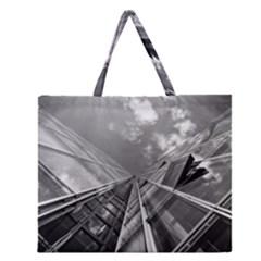 Architecture Skyscraper Zipper Large Tote Bag