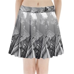 Architecture Skyscraper Pleated Mini Skirt