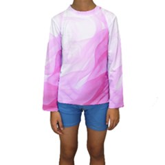 Material Ink Artistic Conception Kids  Long Sleeve Swimwear
