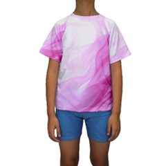 Material Ink Artistic Conception Kids  Short Sleeve Swimwear
