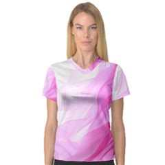 Material Ink Artistic Conception V Neck Sport Mesh Tee