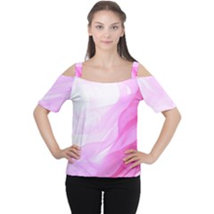 Material Ink Artistic Conception Cutout Shoulder Tee