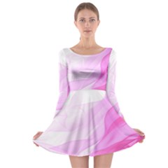 Material Ink Artistic Conception Long Sleeve Skater Dress