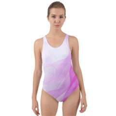 Material Ink Artistic Conception Cut Out Back One Piece Swimsuit