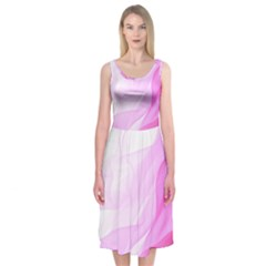 Material Ink Artistic Conception Midi Sleeveless Dress