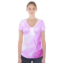 Material Ink Artistic Conception Short Sleeve Front Detail Top