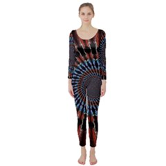 The Fourth Dimension Fractal Noise Long Sleeve Catsuit