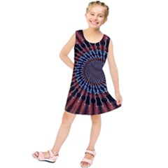 The Fourth Dimension Fractal Noise Kids  Tunic Dress