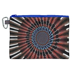 The Fourth Dimension Fractal Noise Canvas Cosmetic Bag (xl)