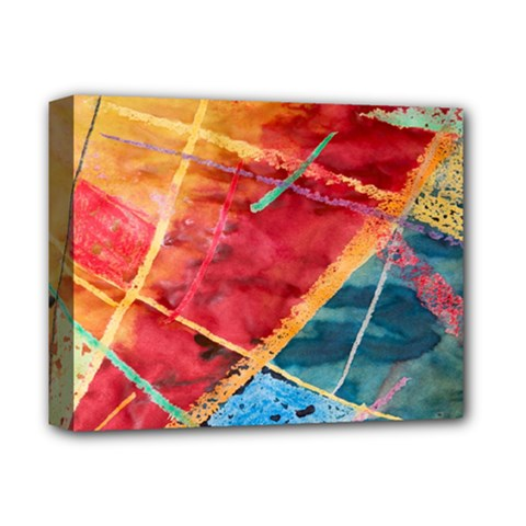 Painting Watercolor Wax Stains Red Deluxe Canvas 14  X 11