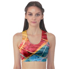 Painting Watercolor Wax Stains Red Sports Bra