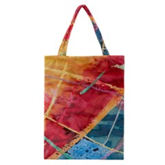 Painting Watercolor Wax Stains Red Classic Tote Bag
