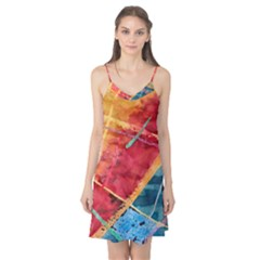 Painting Watercolor Wax Stains Red Camis Nightgown