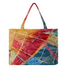 Painting Watercolor Wax Stains Red Medium Tote Bag