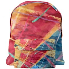 Painting Watercolor Wax Stains Red Giant Full Print Backpack