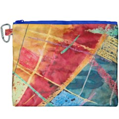 Painting Watercolor Wax Stains Red Canvas Cosmetic Bag (xxxl)