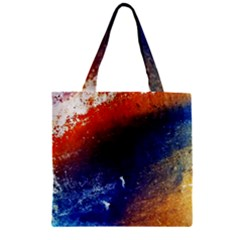 Colorful Pattern Color Course Zipper Grocery Tote Bag