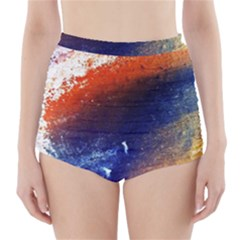 Colorful Pattern Color Course High Waisted Bikini Bottoms