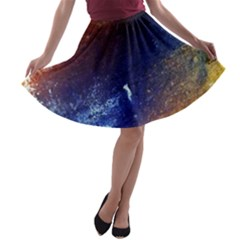 Colorful Pattern Color Course A Line Skater Skirt