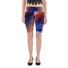 Colorful Pattern Color Course Yoga Cropped Leggings
