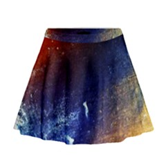Colorful Pattern Color Course Mini Flare Skirt