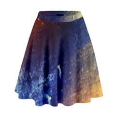Colorful Pattern Color Course High Waist Skirt