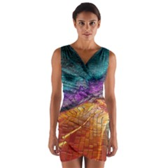 Graphics Imagination The Background Wrap Front Bodycon Dress