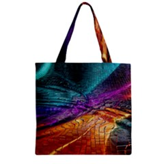 Graphics Imagination The Background Zipper Grocery Tote Bag