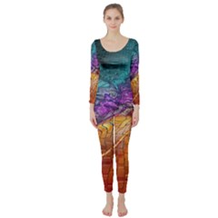 Graphics Imagination The Background Long Sleeve Catsuit