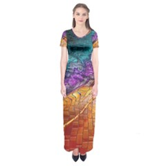 Graphics Imagination The Background Short Sleeve Maxi Dress