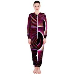 Grid Bent Vibration Ease Bend Onepiece Jumpsuit (ladies)