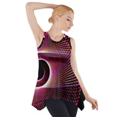 Grid Bent Vibration Ease Bend Side Drop Tank Tunic