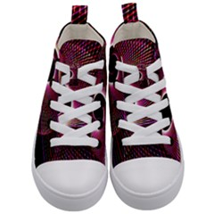Grid Bent Vibration Ease Bend Kid s Mid Top Canvas Sneakers