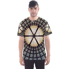 Stained Glass Colorful Glass Men s Sports Mesh Tee