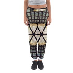 Stained Glass Colorful Glass Women s Jogger Sweatpants