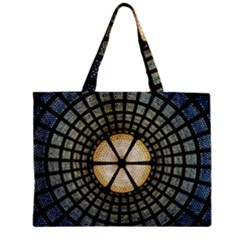Stained Glass Colorful Glass Zipper Mini Tote Bag