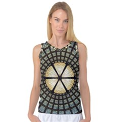 Stained Glass Colorful Glass Women s Basketball Tank Top