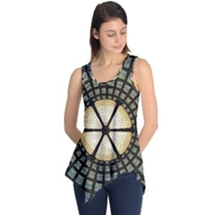 Stained Glass Colorful Glass Sleeveless Tunic
