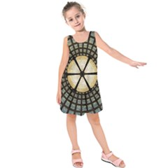Stained Glass Colorful Glass Kids  Sleeveless Dress