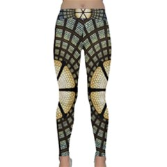 Stained Glass Colorful Glass Classic Yoga Leggings