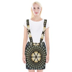 Stained Glass Colorful Glass Braces Suspender Skirt