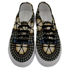 Stained Glass Colorful Glass Men s Classic Low Top Sneakers