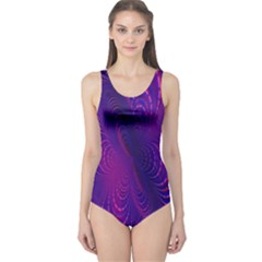 Abstract Fantastic Fractal Gradient One Piece Swimsuit