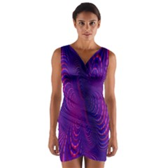 Abstract Fantastic Fractal Gradient Wrap Front Bodycon Dress