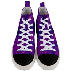 Abstract Fantastic Fractal Gradient Men s Mid Top Canvas Sneakers