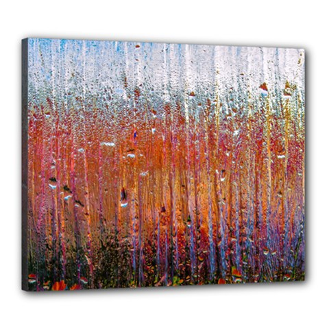 Glass Colorful Abstract Background Canvas 24  X 20