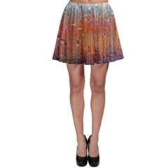 Glass Colorful Abstract Background Skater Skirt